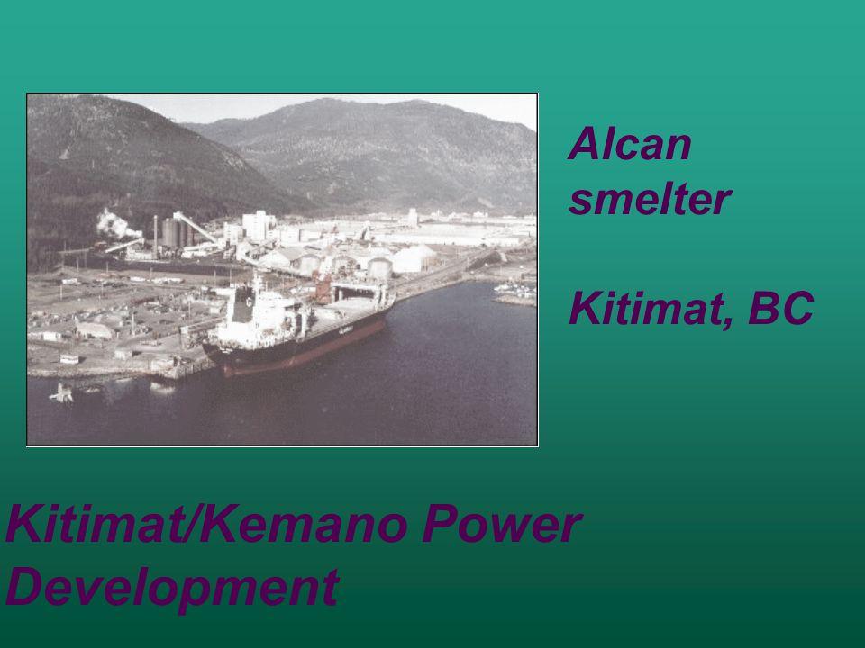 Kitimat/Kemano Power Development Alcan smelter Kitimat, BC