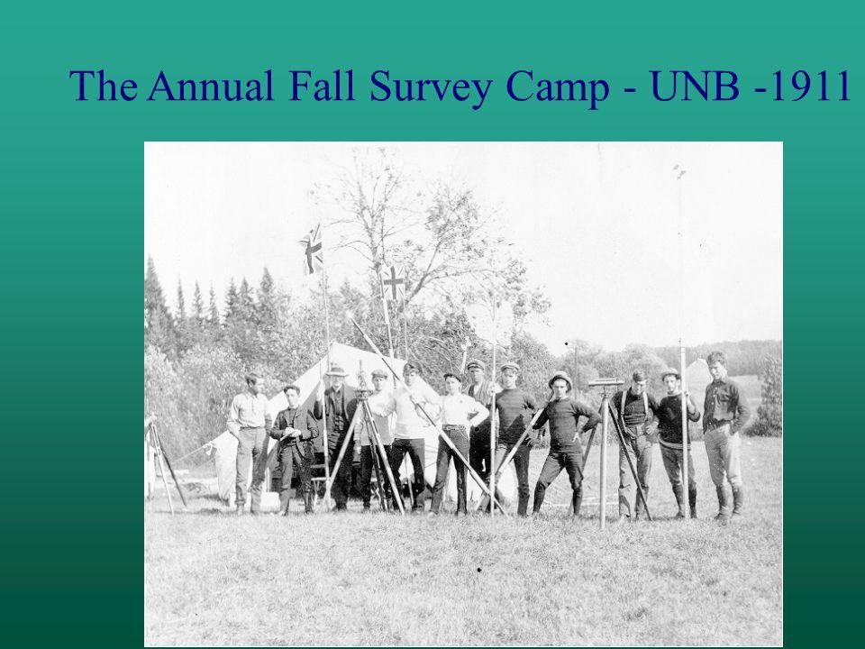 The Annual Fall Survey Camp - UNB -1911