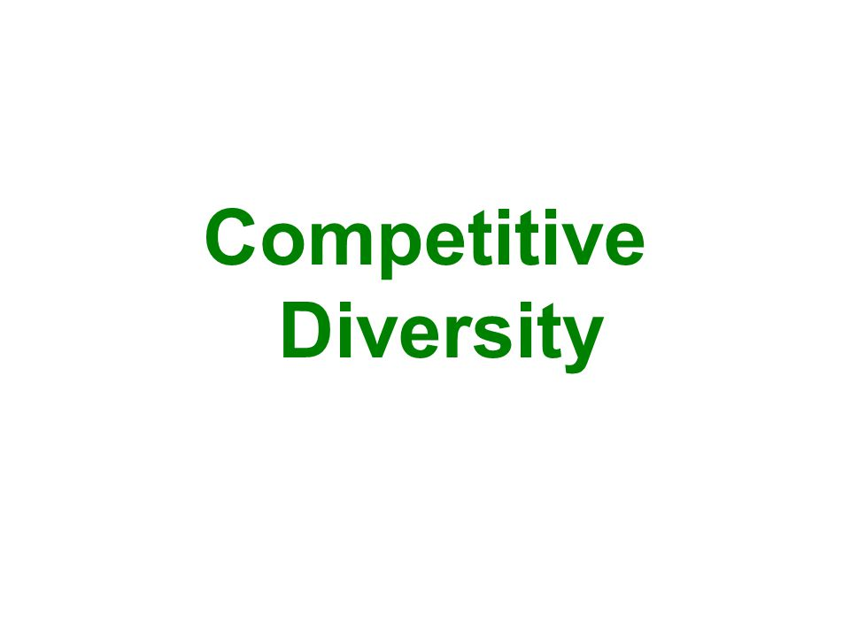 Competitive Diversity