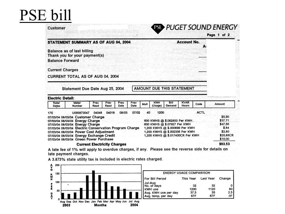PSE bill