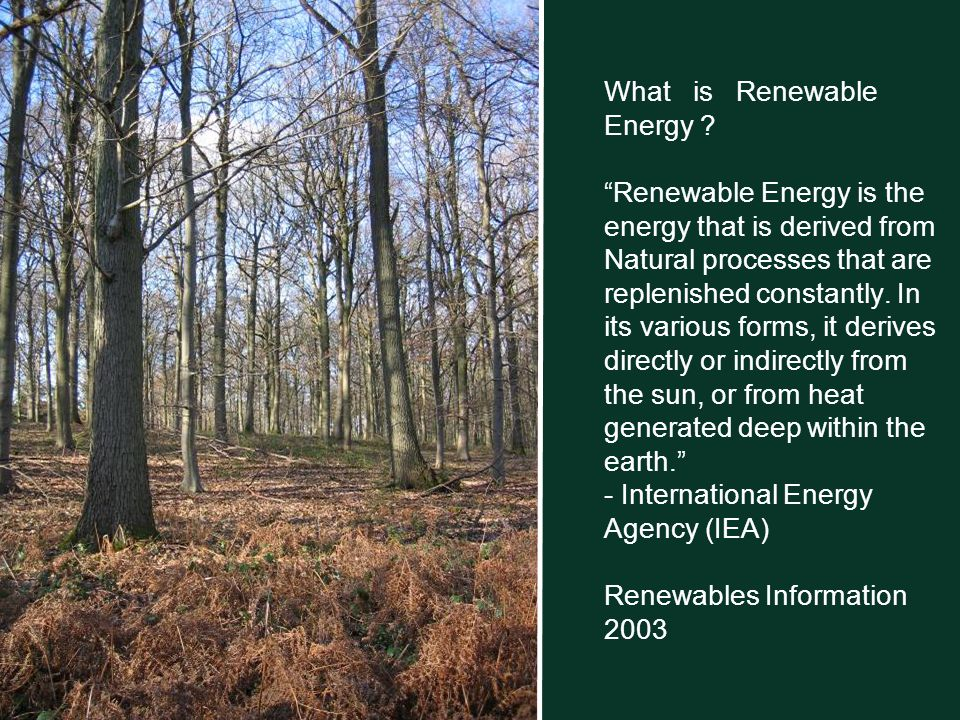 What is Renewable Energy .