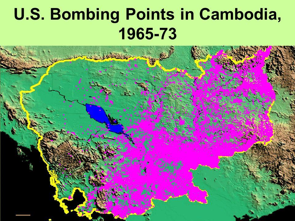 U.S. Bombing Points in Cambodia, 1965-73