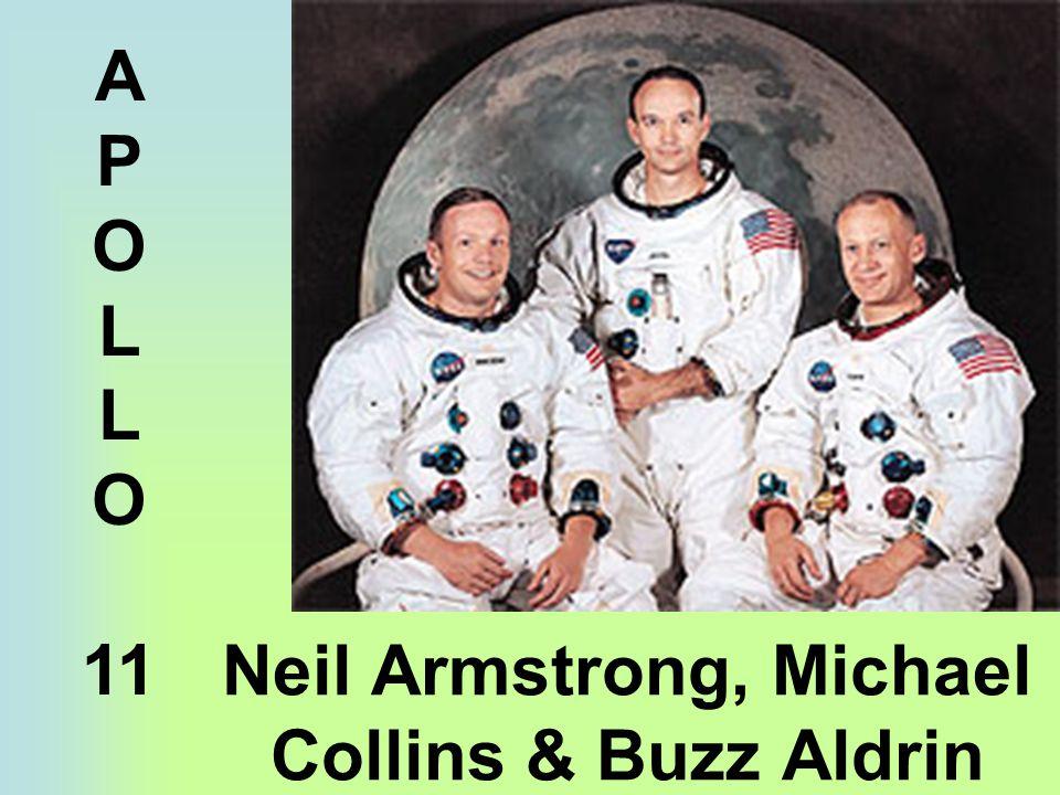 Neil Armstrong, Michael Collins & Buzz Aldrin A P O L O 11