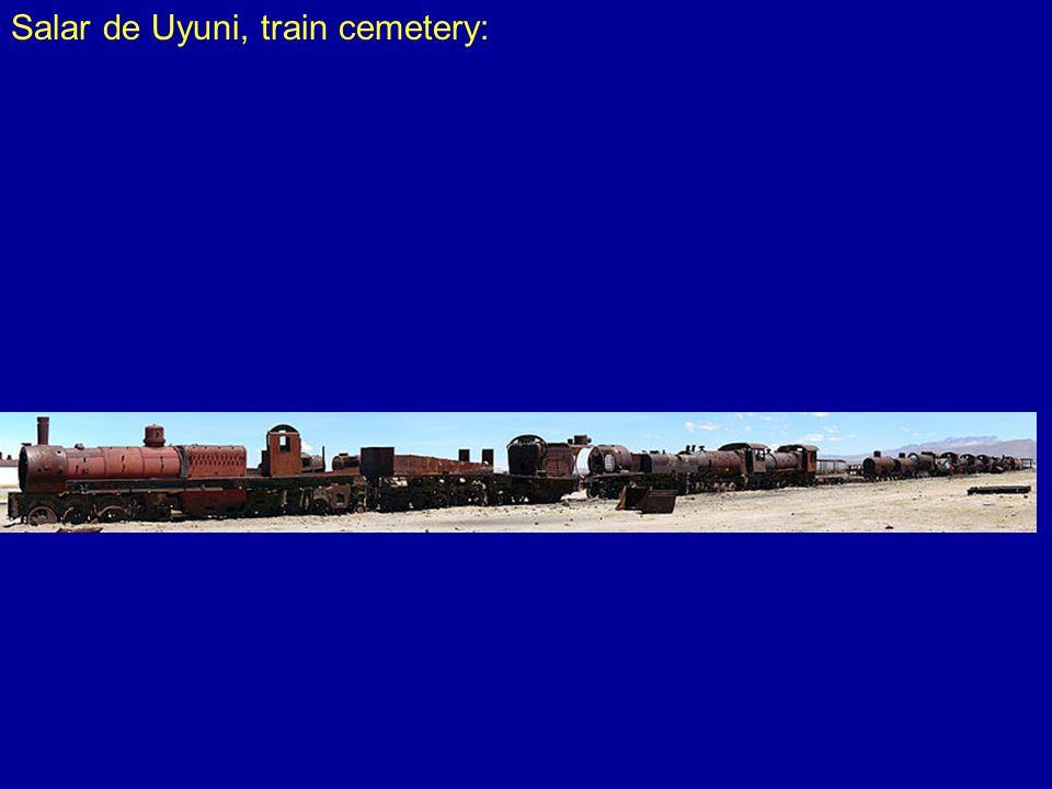 Salar de Uyuni, train cemetery: