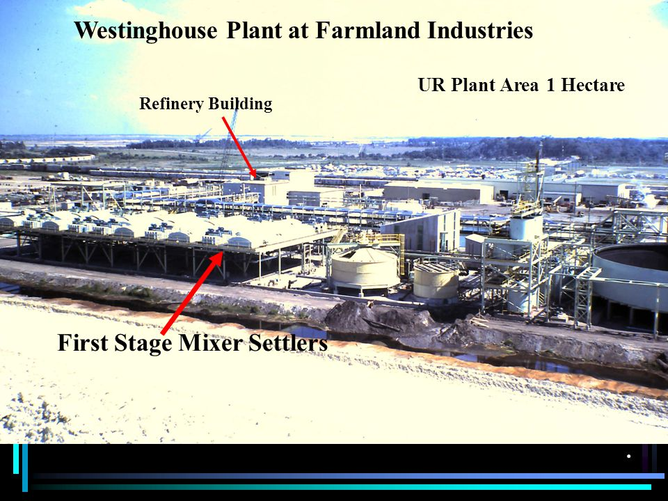Westinghouse Plant at Farmland Industries First Stage Mixer Settlers Refinery Building UR Plant Area 1 Hectare.