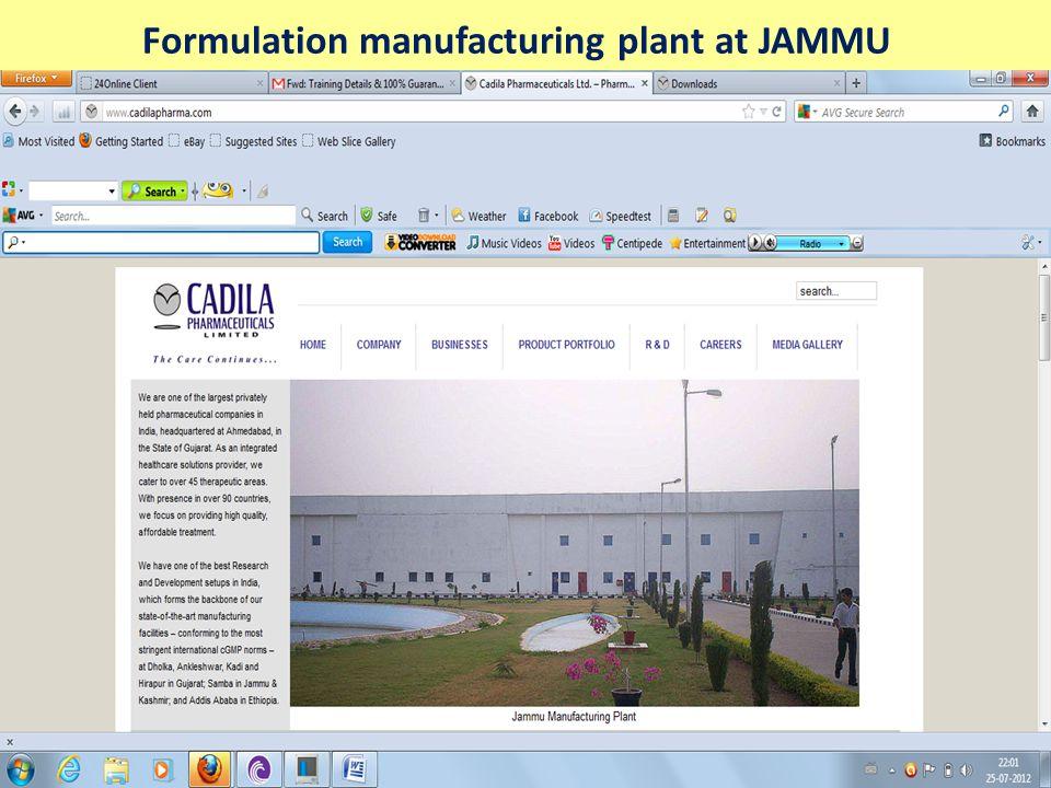 API BULK DRUG Production plant, Ankleshwar, Gujarat