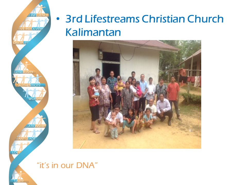 it's in our DNA 3rd Lifestreams Christian Church Kalimantan