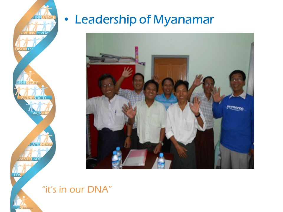 it's in our DNA Church Plant at Karawara 3rd Lifestreams Christian Church Kalimantan Leadership of Myanamar Alisha's – Ministry in Thailand with UNoH