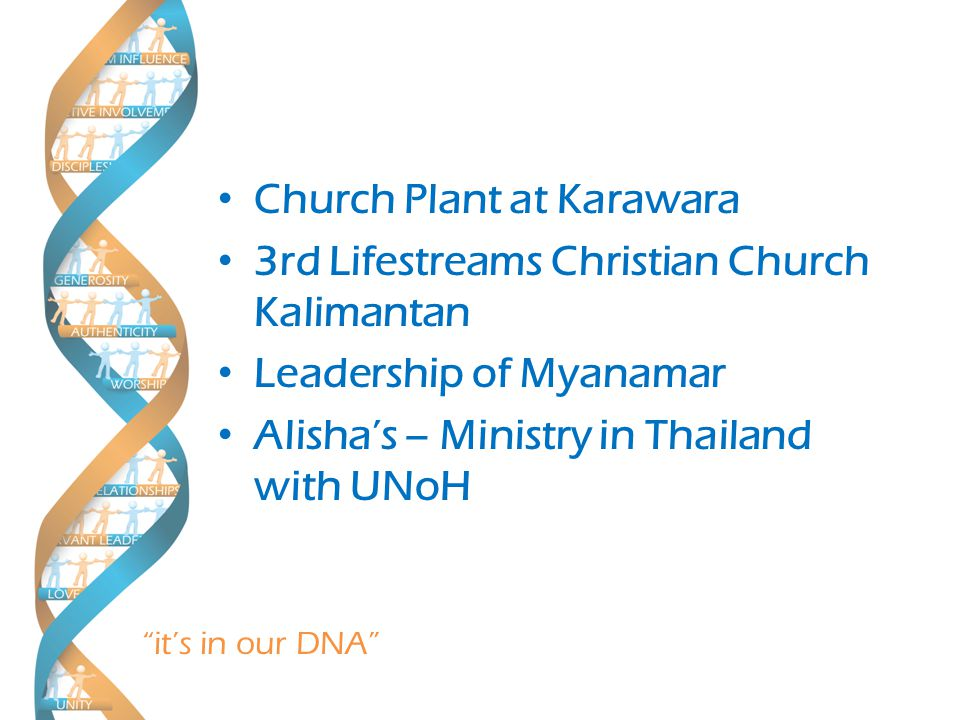 it's in our DNA Let's Pray…