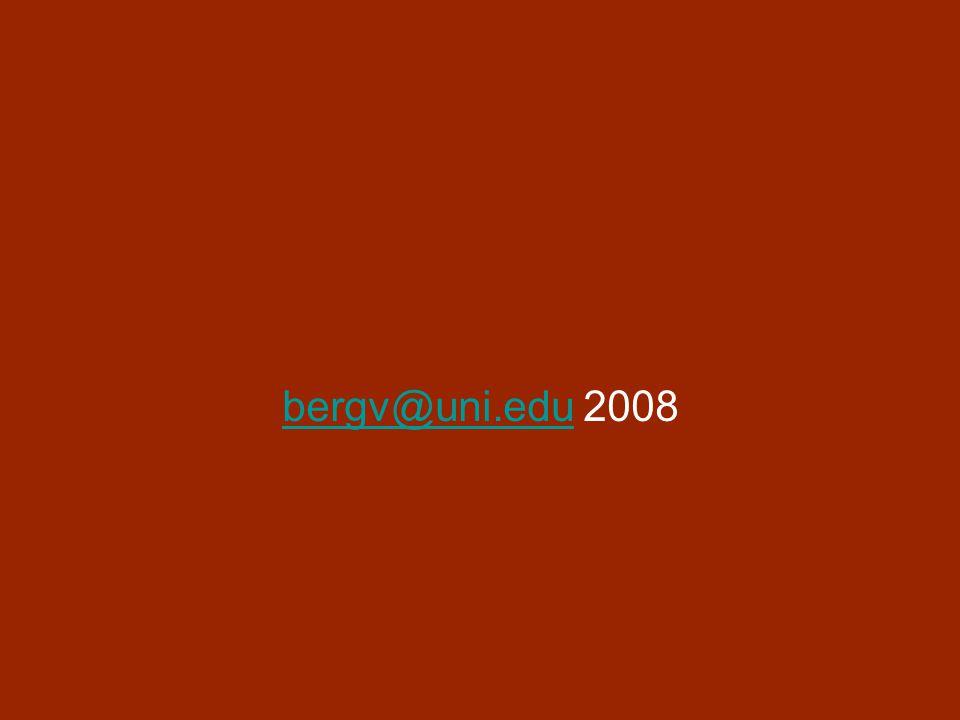 bergv@uni.edubergv@uni.edu 2008