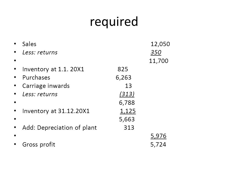 Accumulated depreciation At 1.1.20X1 738 375 1,113 Charge for year 313 187 500 At 31.12.20X1 1,051 562 1,613