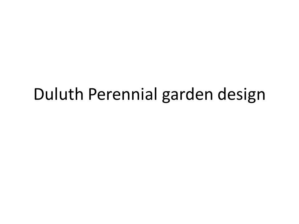 Duluth Perennial garden design