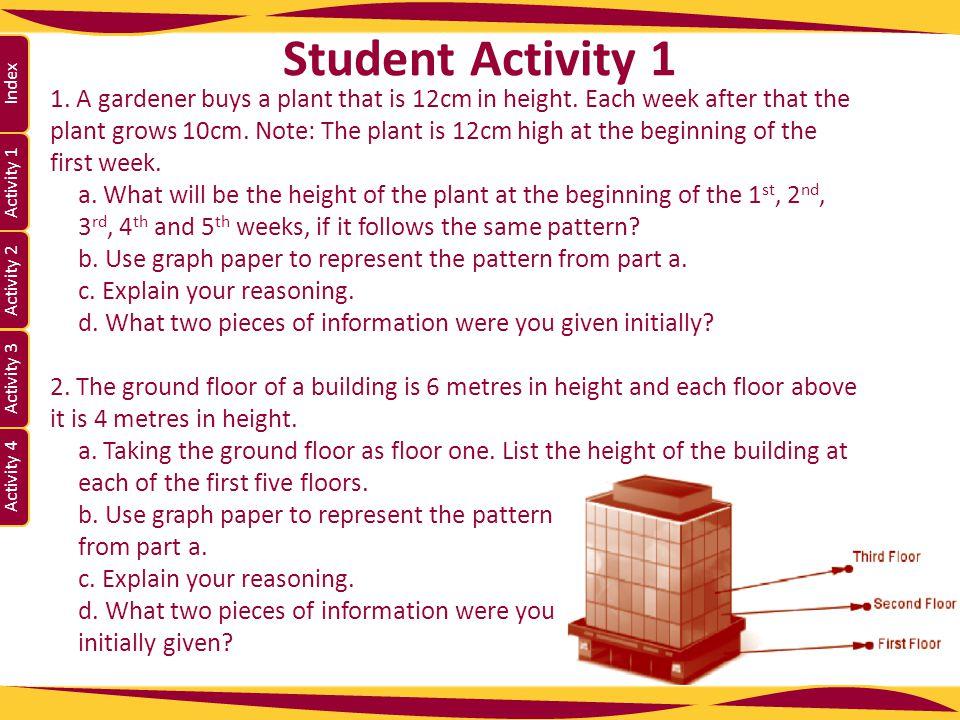 Activity 1 Activity 2 Index Activity 3 Activity 4 3.