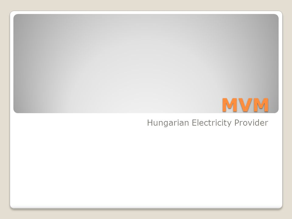 MVM Hungarian Electricity Provider