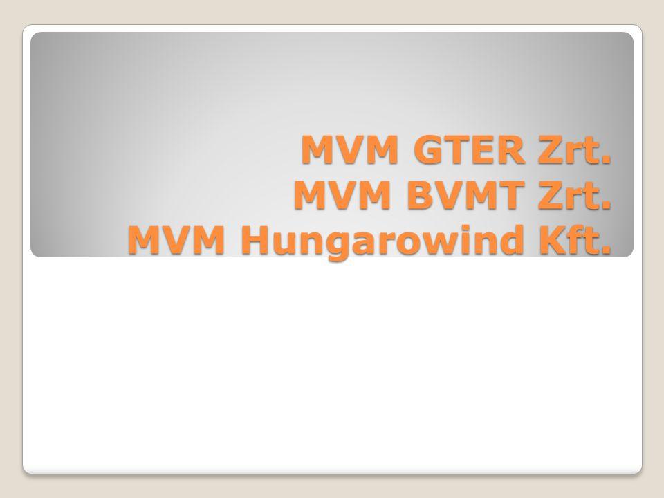 MVM GTER Zrt. MVM BVMT Zrt. MVM Hungarowind Kft.