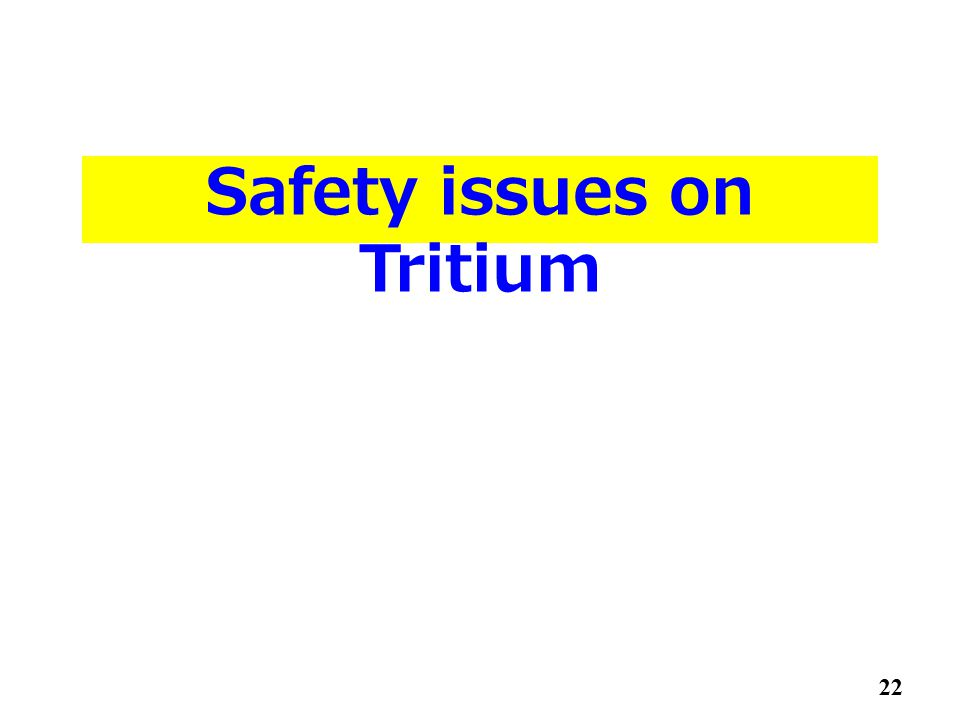 Safety issues on Tritium 22
