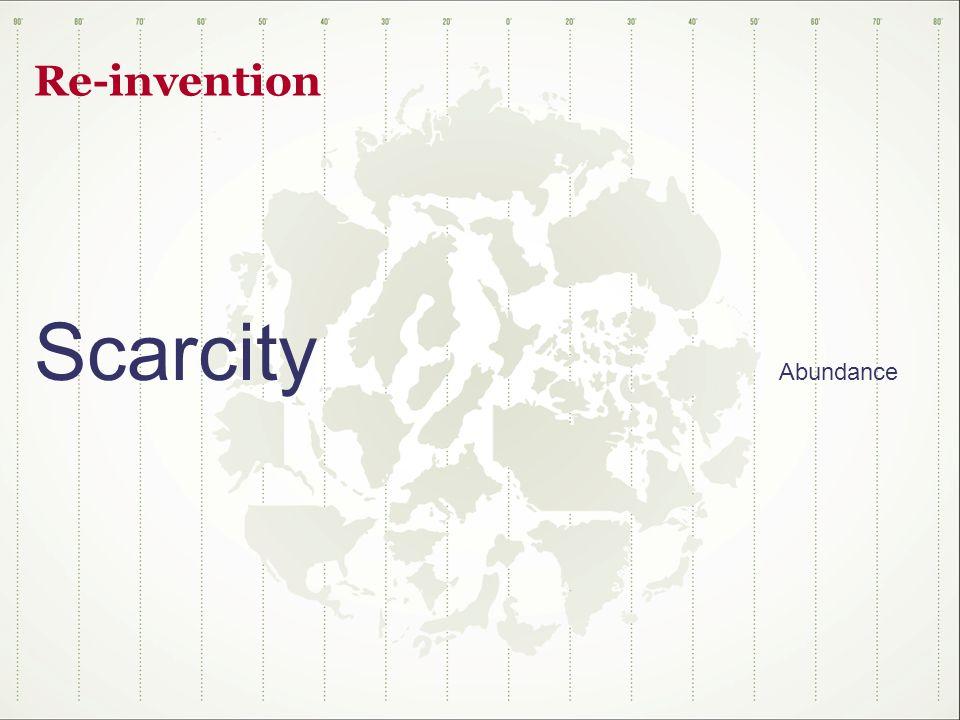 Re-invention Scarcity Abundance