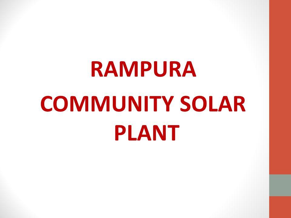 RAMPURA COMMUNITY SOLAR PLANT