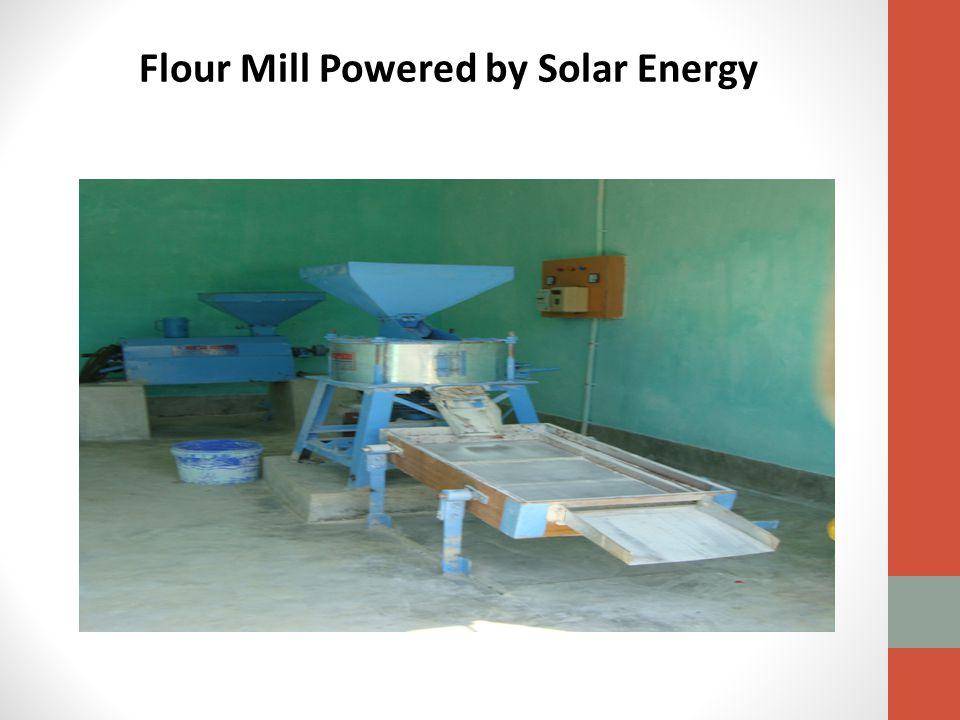 Flour Mill Powered by Solar Energy
