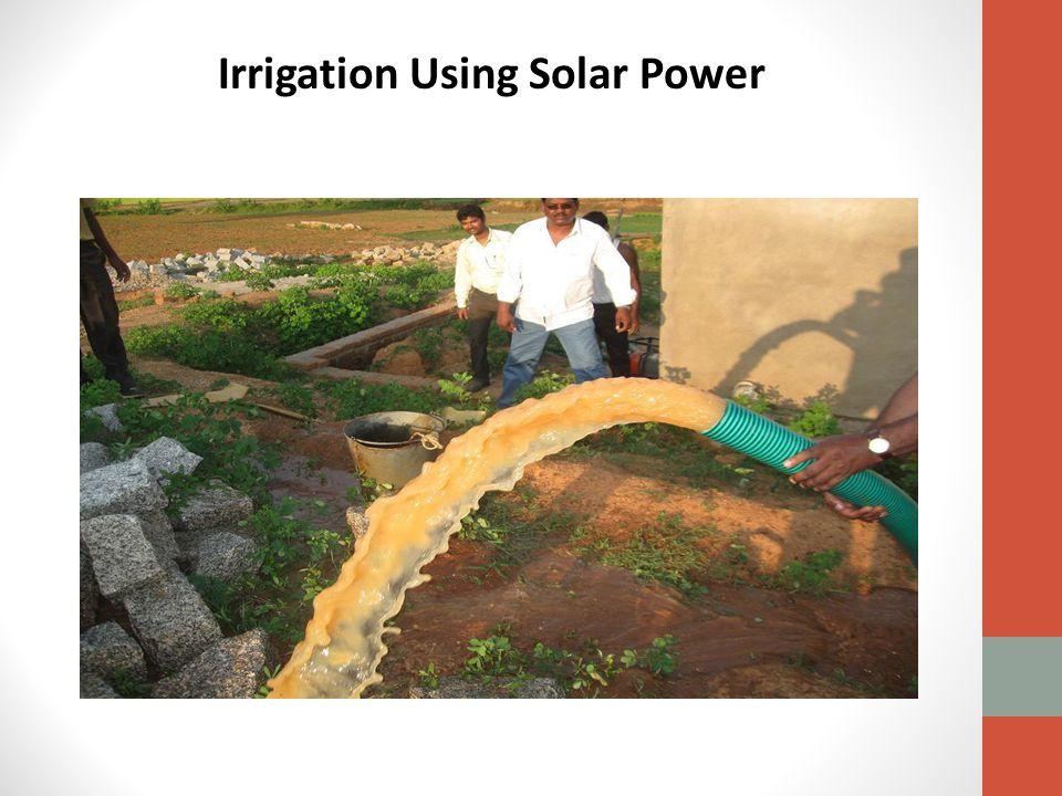 Irrigation Using Solar Power