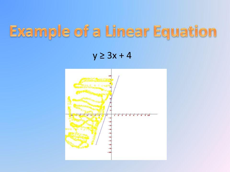 y ≥ 3x + 4
