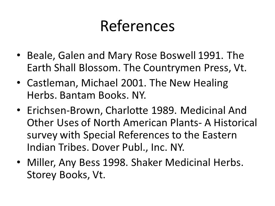 References Beale, Galen and Mary Rose Boswell 1991.
