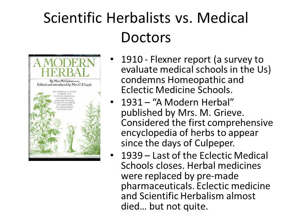 Scientific Herbalists vs.