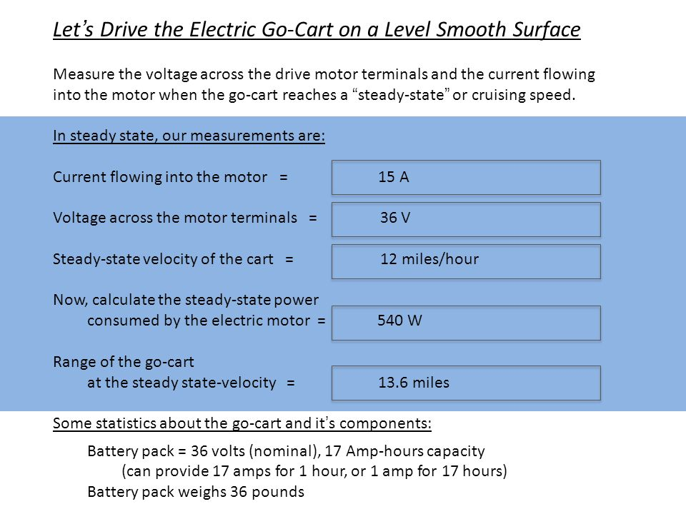 Why does the Go-Cart use Energy when Moving at a Steady-State Velocity .