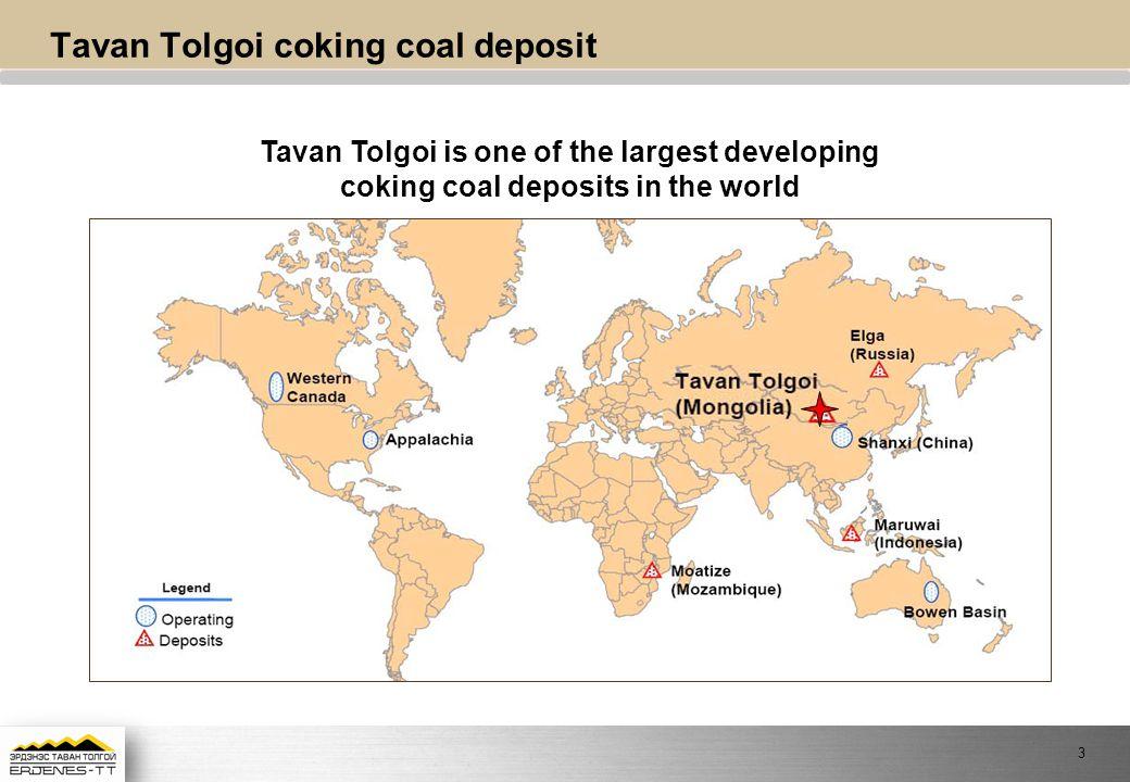 Tavan Tolgoi coking coal deposit Tavan Tolgoi is one of the largest developing coking coal deposits in the world 3
