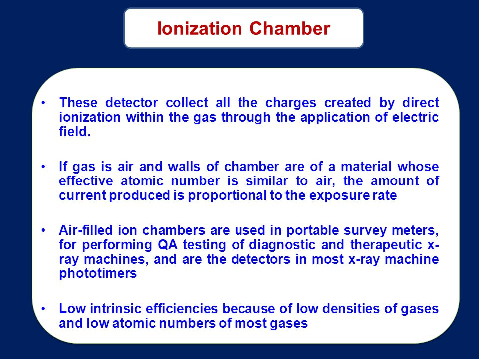 These detector collect all the charges created by direct ionization within the gas through the application of electric field.