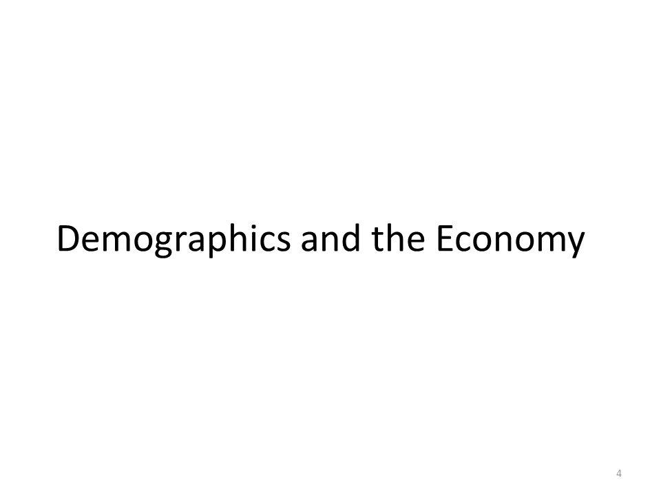 Demographics and the Economy 4