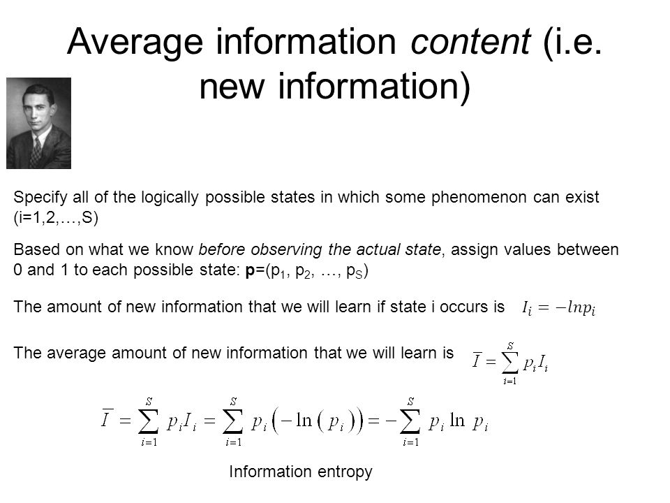 Average information content (i.e.