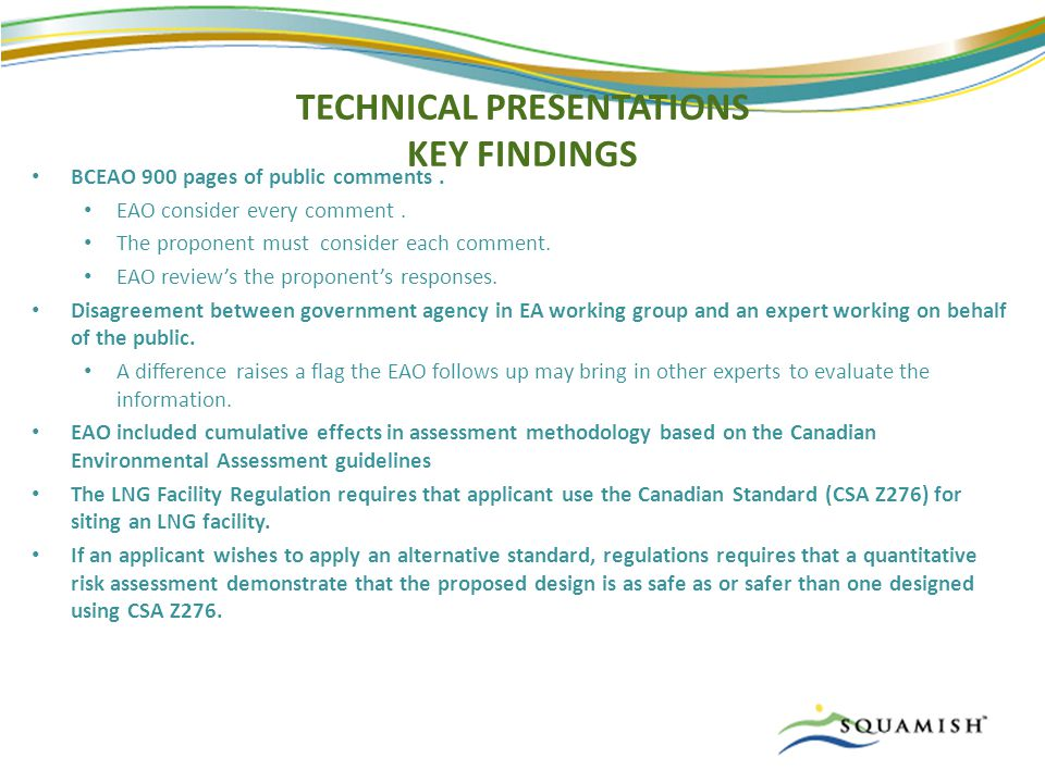 TECHNICAL PRESENTATIONS KEY FINDINGS BCEAO 900 pages of public comments.