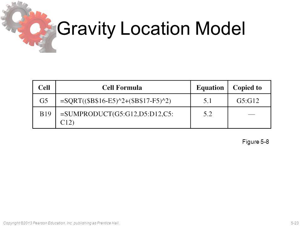 5-23Copyright ©2013 Pearson Education, Inc. publishing as Prentice Hall. Gravity Location Model Figure 5-8