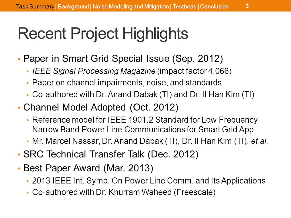 Recent Project Highlights Paper in Smart Grid Special Issue (Sep.