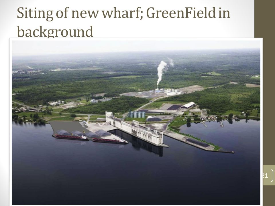 22 GreenField Ethanol, an early anchor, off to strong start; active partner 230 million litres of ethanol per year; now at over 120% of capacity; 52 permanent jobs; 22 million bushels of corn mostly from regional farmers By-products: heat, carbon dioxide and dry distillers grain $180 million dollar construction cost Current research on cellulosic ethanol from corn cobs centred at Chatham Essential support to corn producers (we just need to find a good use for the cobs – and they are out there!)  We have a particular interest in the R&D and demonstration aspect.