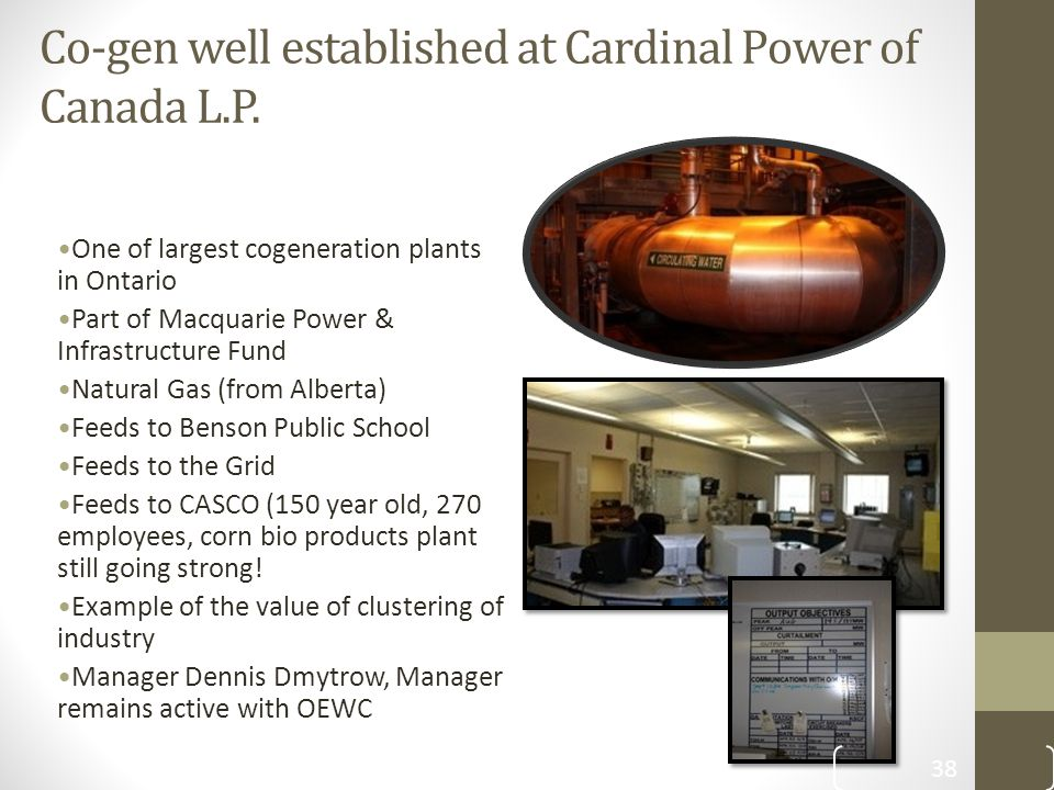 Co-gen well established at Cardinal Power of Canada L.P.