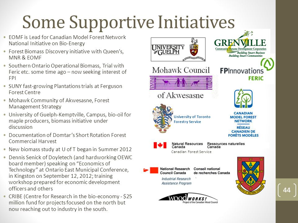Wide array of programs – federal and provincial – fragmentation a challenge for a grass roots initiative 47 provincial programs in nine different ministries Provincial Eastern Ontario Development Fund funding in place, not for start-ups so far Grenville Community Futures Development Corporation most effective to date with EODP program some of the Commercializing and Innovation FedDev Programs Southern Ontario Development Program NRC Canada Industrial Research Assistance Program Business Development Bank of Canada Applied Research and Commercialization Initiative Technology Development Program Scientists and engineers in business Investing in business Innovation Prosperity Initiative (turned us down on March 2, 2012 after five month wait) – disappointing to say the least; need professional assistance 45