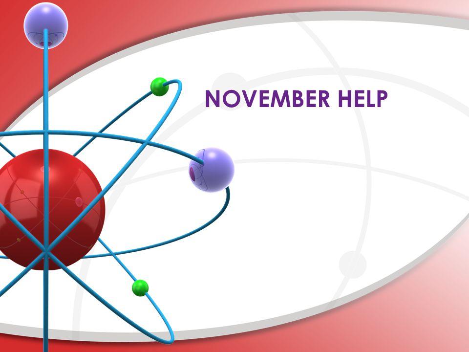 NOVEMBER HELP