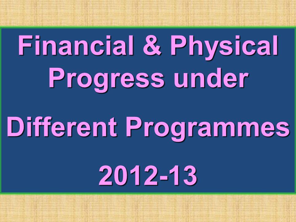 Financial & Physical Progress under Different Programmes 2012-13
