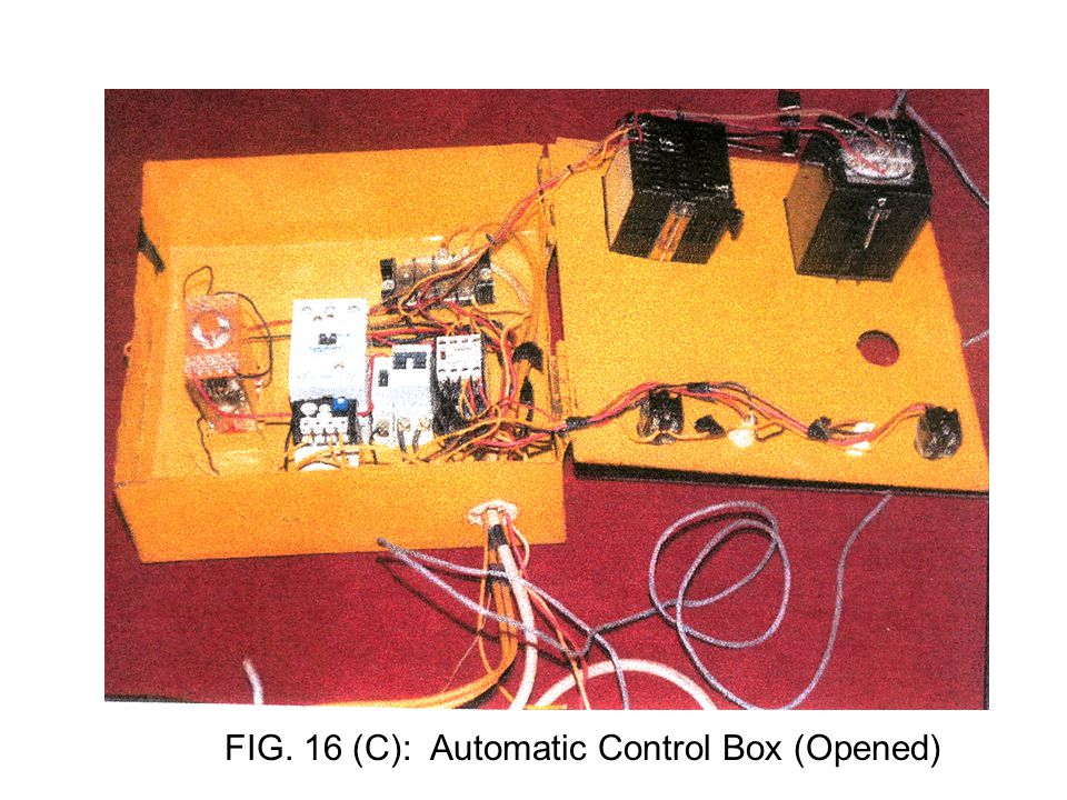 67 FIG. 16 (C): Automatic Control Box (Opened)
