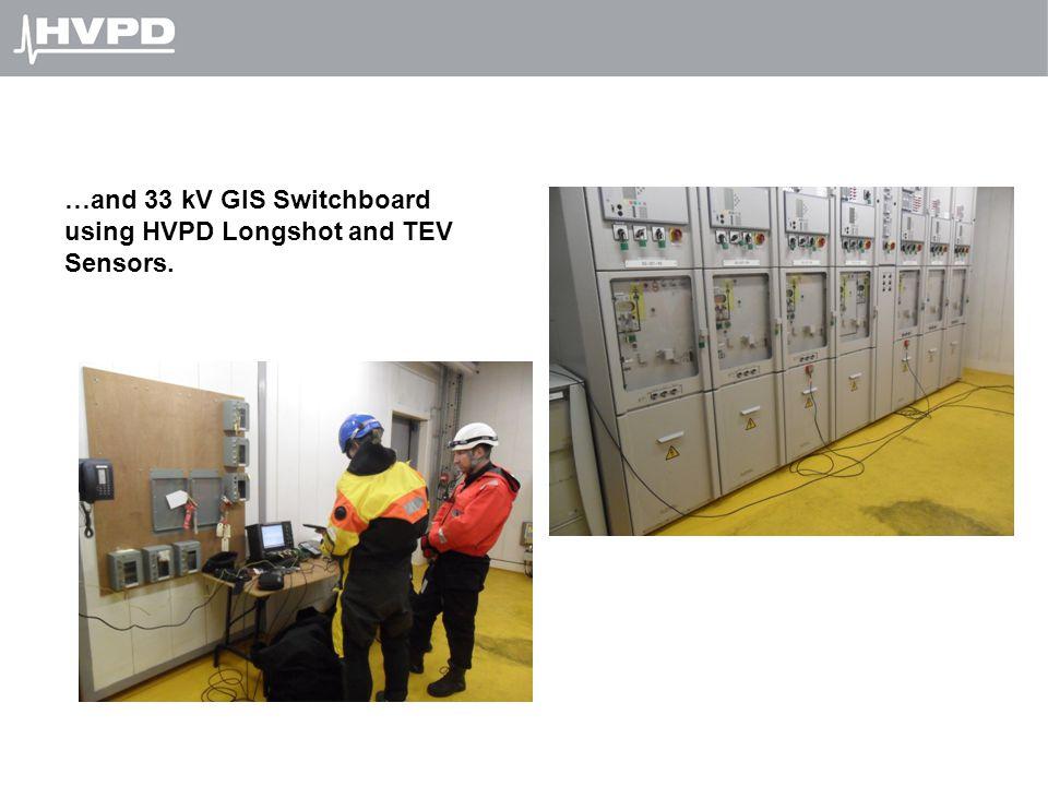 …and 33 kV GIS Switchboard using HVPD Longshot and TEV Sensors.