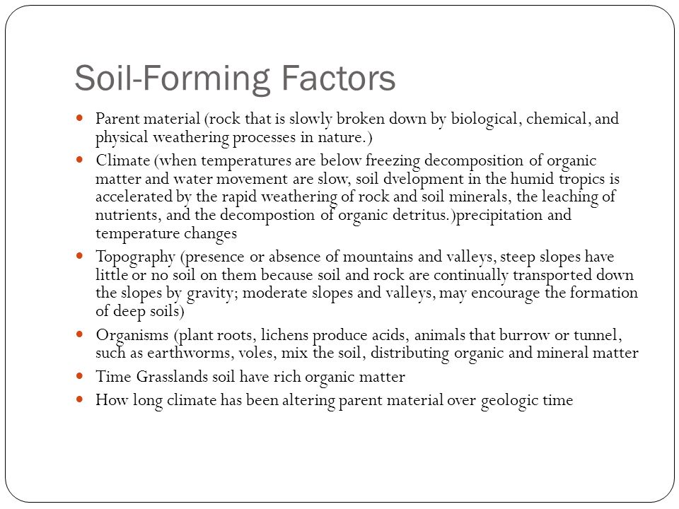 Soil characterization Soil can be characterized by color and several other traits: Texture Structure pH