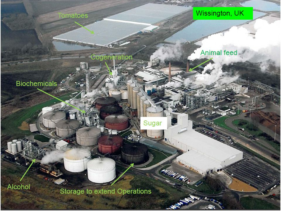 NNFCC The UK's National Centre for Biorenewable Energy, Fuels and Materials British Sugar, Wissington Wissington sugar beet processing factory.