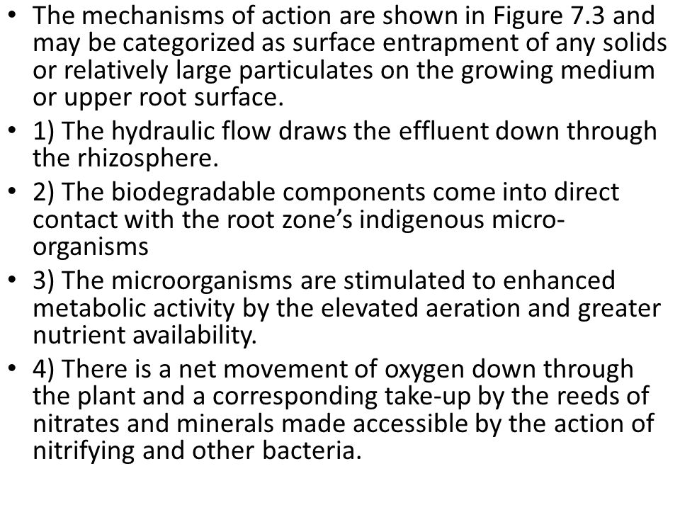 The mechanisms of action are shown in Figure 7.3 and may be categorized as surface entrapment of any solids or relatively large particulates on the gr