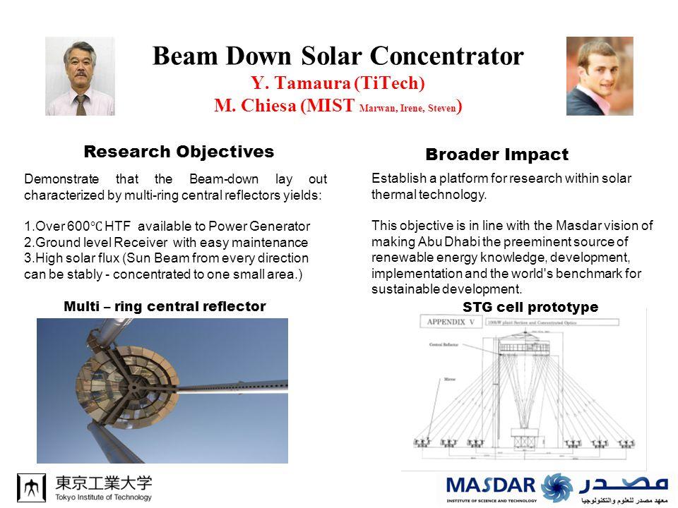 Beam Down Solar Concentrator Y. Tamaura (TiTech) M.