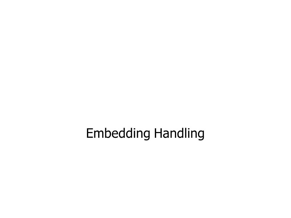 Embedding Handling