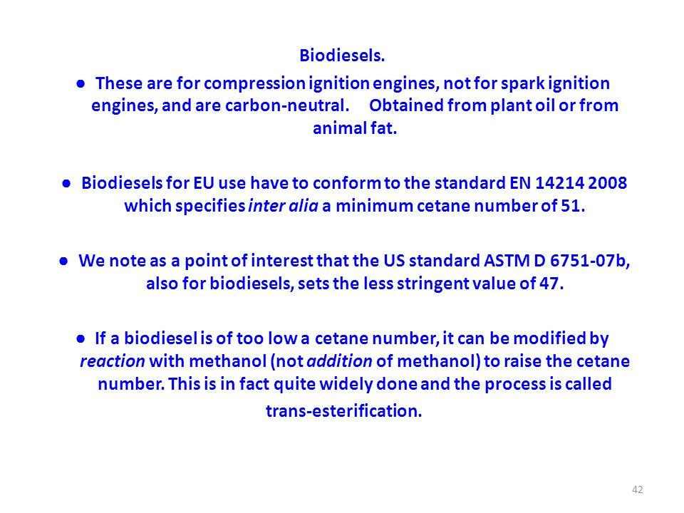 Biodiesels.