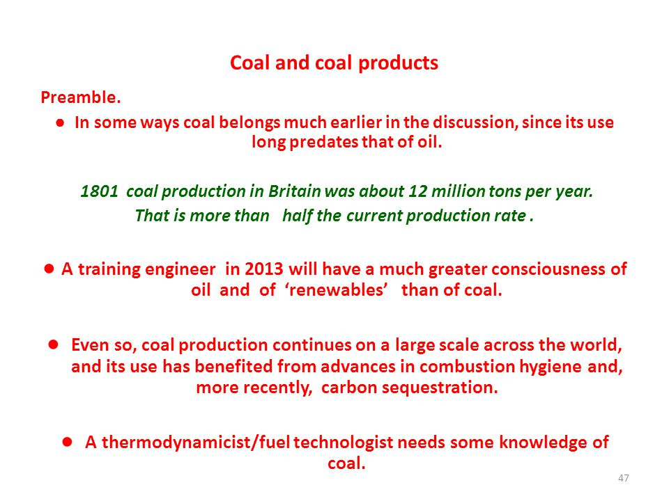 Coal and coal products Preamble.
