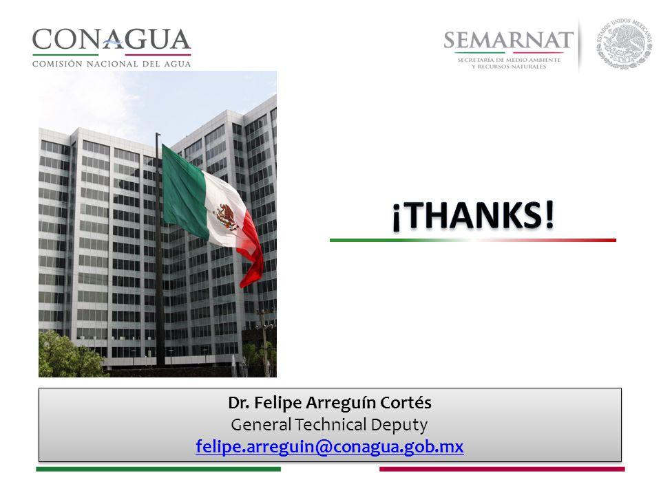Dr. Felipe Arreguín Cortés General Technical Deputy felipe.arreguin@conagua.gob.mx Dr.